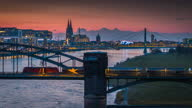 istock Cologne Cityscape at Dusk - Aerial Shot 1316910878