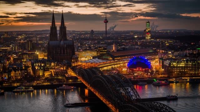 Cologne Illuminated City at Night