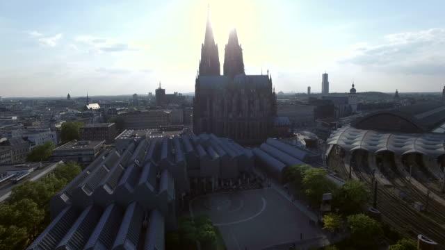 4K - Cologne, Köln Aerial view