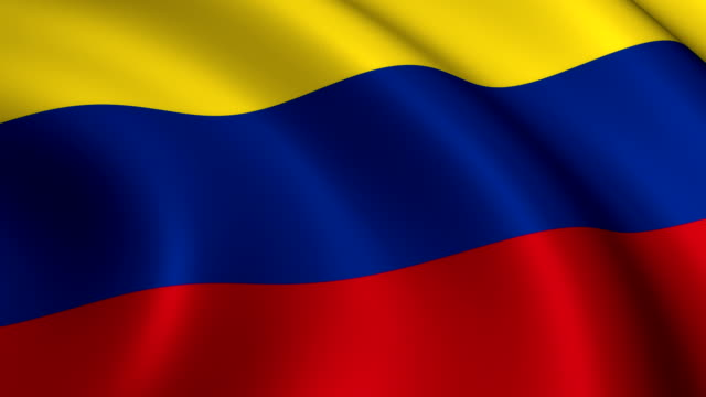 Colombia Flag Loopable video
