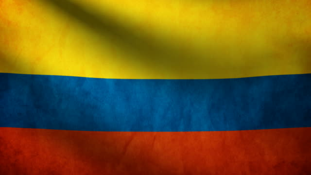 Colombia flag. video