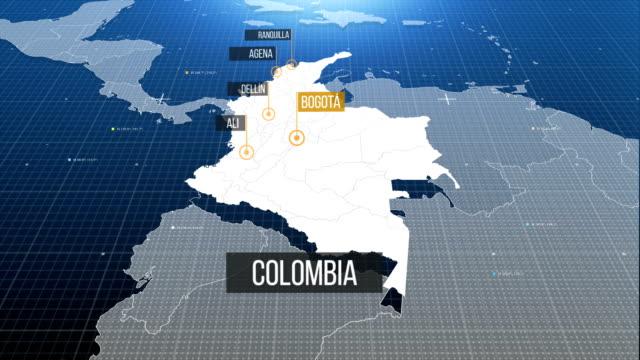 vídeos y material grabado en eventos de stock de mapa de colombia - colombia
