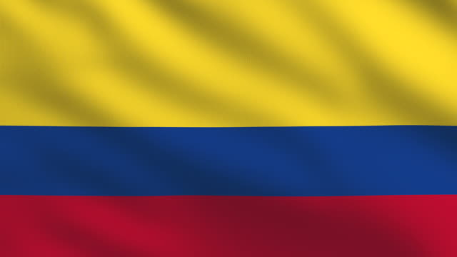 Colombian flag video