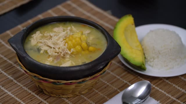 Colombian traditional plate - Ajiaco