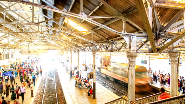 Colombo Fort Railway station morning rush-hour Sri Lanka travel footage concepts colombo stock videos & royalty-free footage