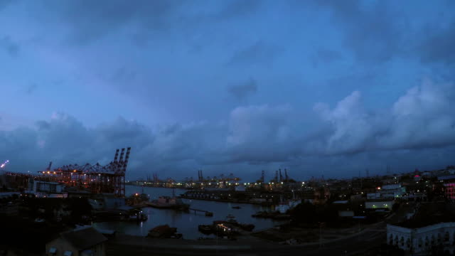 Colombo Harbour Sunset Colombo Harbour Sunset colombo stock videos & royalty-free footage