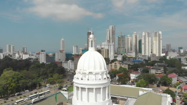 Colombo modern architecture buildings View of the Colombo city skyline with modern architecture buildings colombo stock videos & royalty-free footage