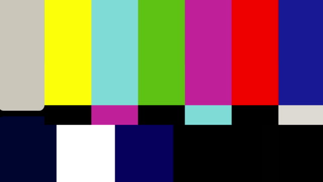 SMPTE color bars animation video