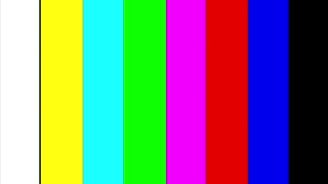 """Color bars transition SMPTE  - alpha matte """"SMPTE color bars is a television test pattern used where the NTSC video standard is utilized, including countries in North America."""" solid stock videos & royalty-free footage"""