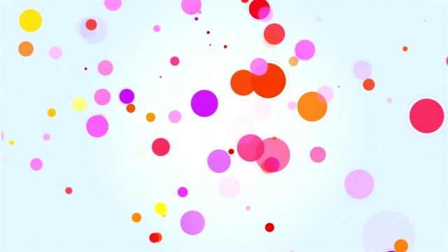 サークルの背景の色 - 輪点の映像素材/bロール