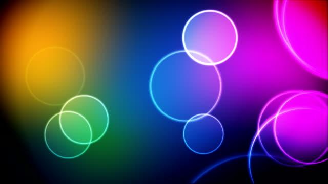 Color circles loop video