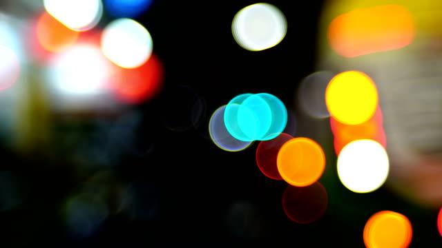 Color footage of some defocused lights video