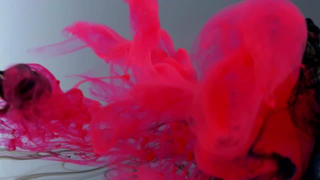 Color Ink Flowing In Water video