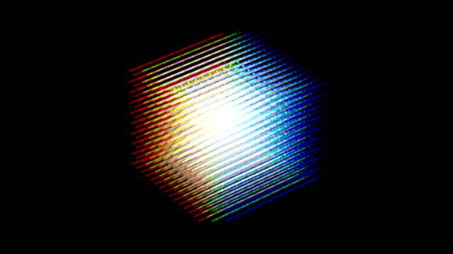 färg lysande roterande kub - kub bildbanksvideor och videomaterial från bakom kulisserna
