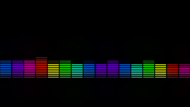 color music equalizer abstract