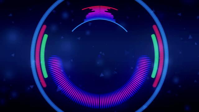 stockvideo's en b-roll-footage met kleur muziek equalizer abstract - visuele hulpmiddelen