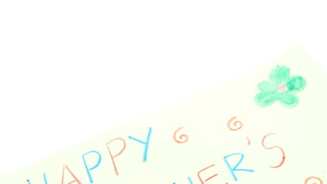 Color pencil kept on happy mothers day greetings card video