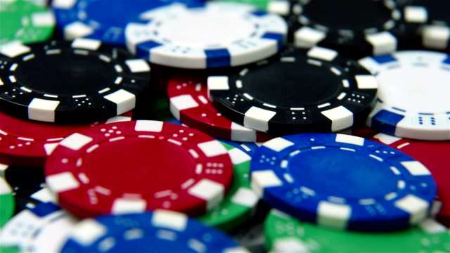 Color stacks of poker chips video
