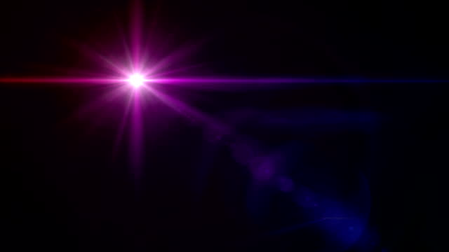 color star cross color lens flare HD video