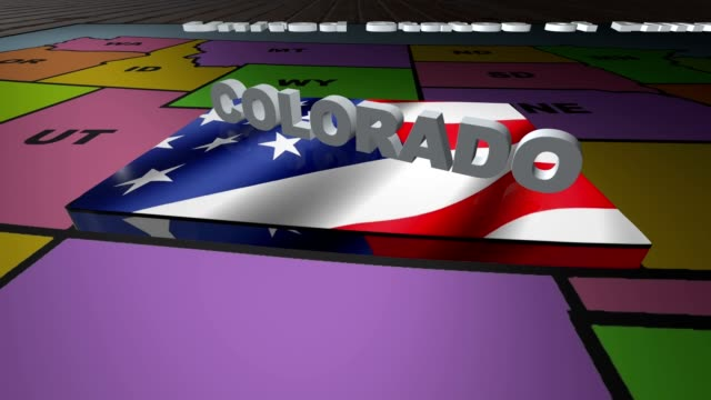 Colorado pull out from USA states abbreviations map video