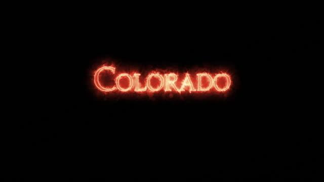 Colorado written with fire. Loop