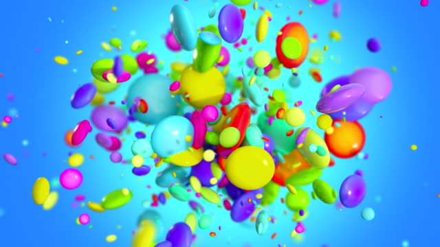 Colored Candy explosion in 4K Colored Candy explosion in 4K candy stock videos & royalty-free footage