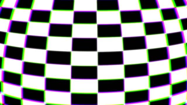 farbige karierten 3d-formen, computer generiert modernen abstrakten hintergrund, 3d-rendering - karo stock-videos und b-roll-filmmaterial