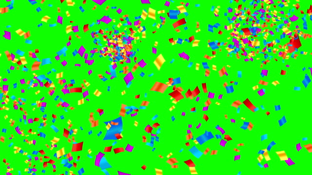 Colored confetti abstract motion background. video