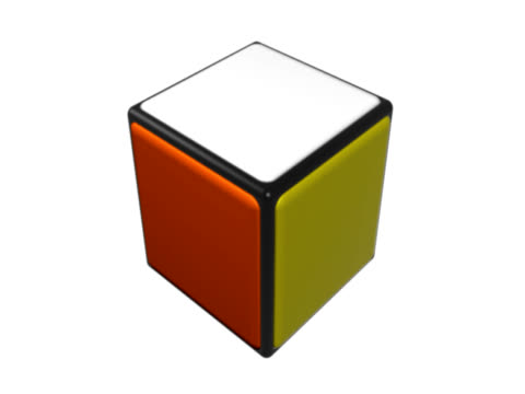Colored cube spinning video