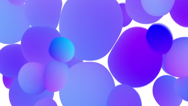 colored glowing balls on white background. digital animation 3d rendering - tridimensionale video stock e b–roll