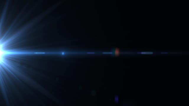 Colored highlights in motion on a black background HD 1920x1080