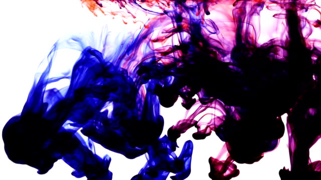 Colored Ink Drops video
