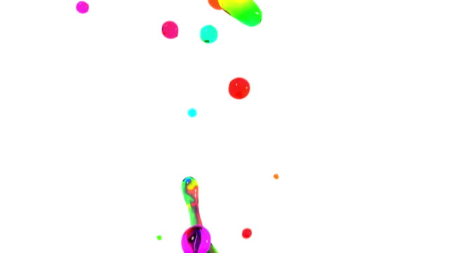 Colored paint splashes in slow motion. HD 1080. video