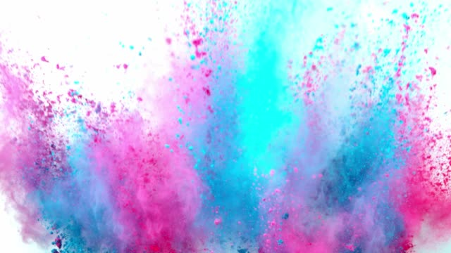 Colored powder explosion on white background. Colored powder explosion on white background. Freeze motion.Colored powder explosion on white background. Freeze motion, super slow motion. burst stock videos & royalty-free footage