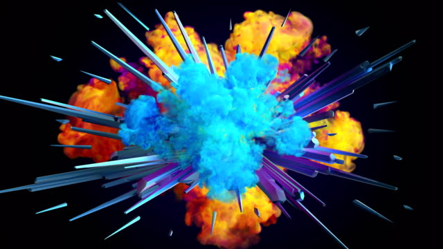 Colored smoke explosion in 4K