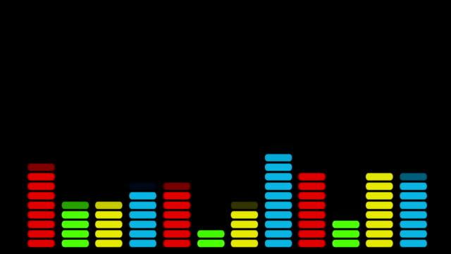hd: colorata equaliser audio - attrezzatura per la musica video stock e b–roll