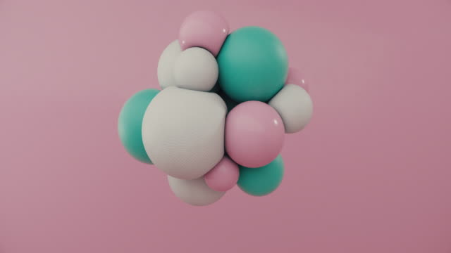 colored spheres floating in motion - treedeo stock videos & royalty-free footage