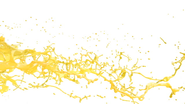 Colored Splashes, isolated on white background. video