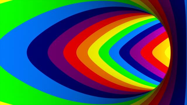 colored striped tourus hole. 3d illustration