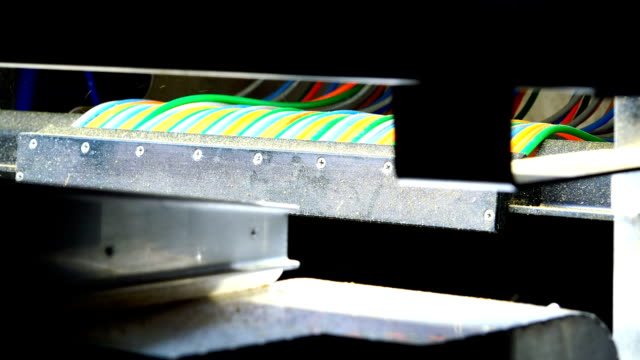 colored wires on the working machine