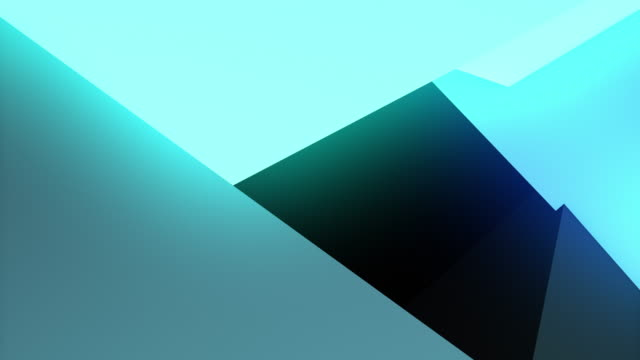 colorful abstract composition made from a huge three-dimensional objects 4K video