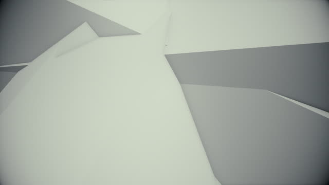 colorful abstract composition made from a huge three-dimensional objects can be to use for title and intro 4K loop video