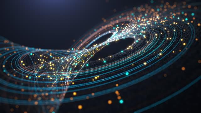 färgglada abstrakta kurvor eller virvlar bakgrund - led ljus bildbanksvideor och videomaterial från bakom kulisserna