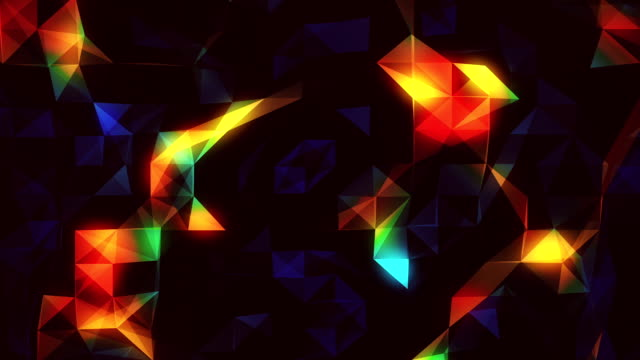 Colorful abstract loopable  background footage with triangles video