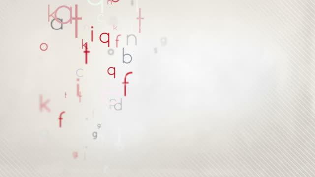 Alfabeto lettere colorate sfondo rosso pastello Loop-HD - video