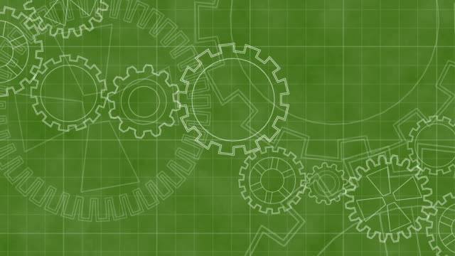 Colorful Animated Background with Gears HD video