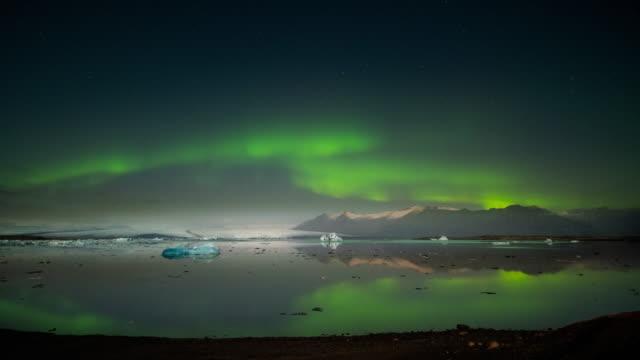 bunte aurora borealis - landscape crazy stock-videos und b-roll-filmmaterial