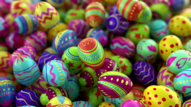 Colorful background with Easter eggs. video