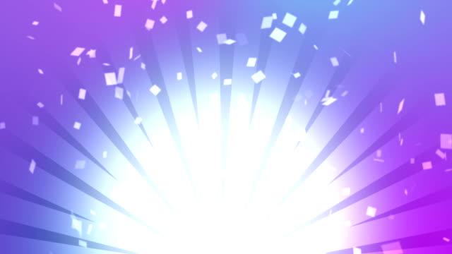 farbigen hintergrund mit rochen und konfetti. - lotto stock-videos und b-roll-filmmaterial