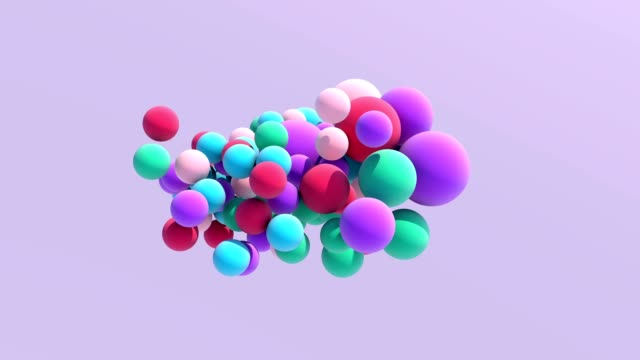 vídeos de stock, filmes e b-roll de colorido balão flutuando em movimento - esfera